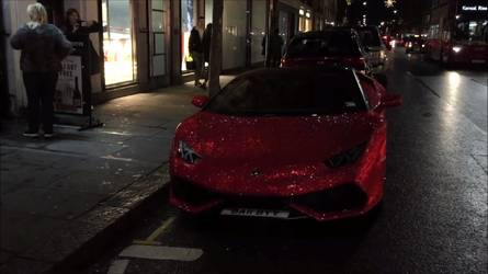 Weird Lamborghini Huracan With 1.3M Swarovski Crystals Is A V10 Jewel