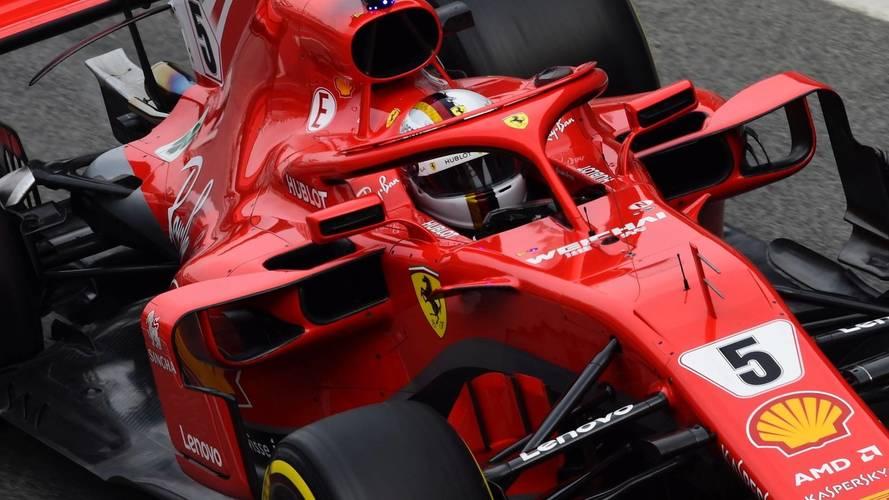 La nieve y Vettel protagonizaron la segunda jornada de test
