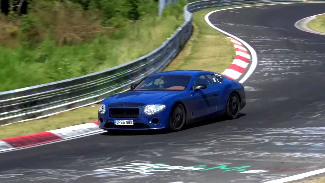 Bentley Continental GT Spy Video