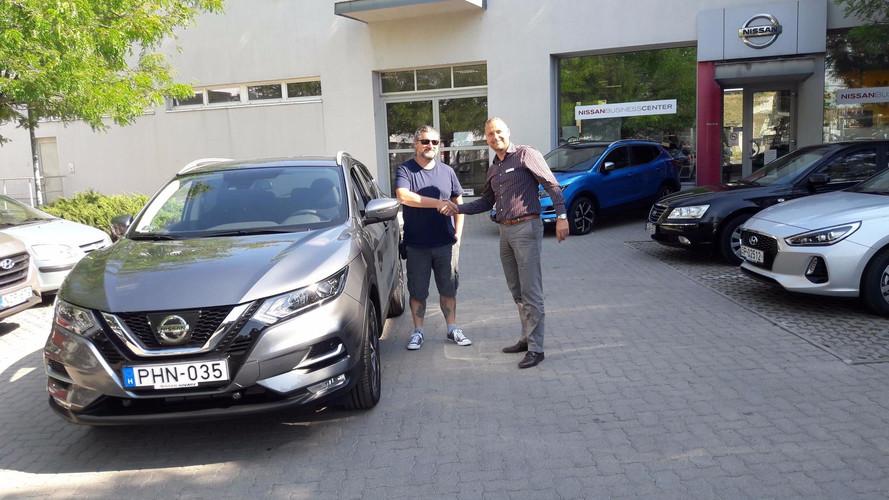Megvan a vadonatúj Nissan Qashqai első hazai tulajdonosa