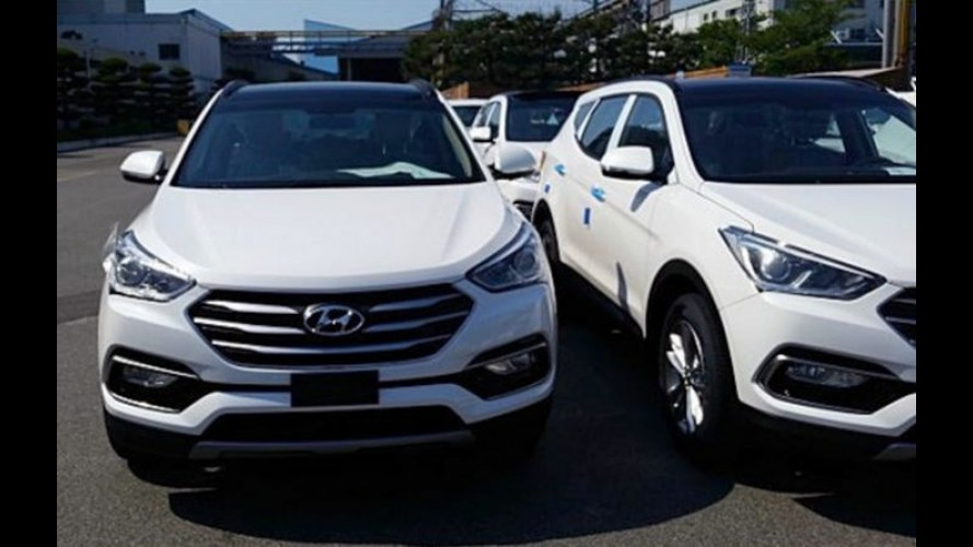 Flagra: Hyundai Santa Fe 2016  aparece com tapinha no visual