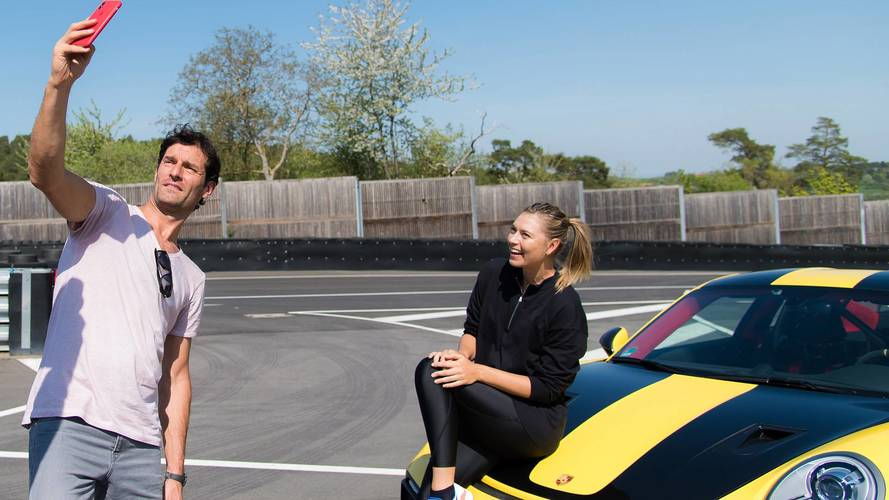 Maria Sharapova, Mark Webber Hit The Track In Porsche 911 GT2 RS