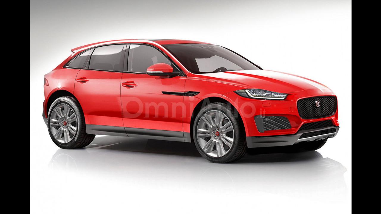 Jaguar crossover compatta 2017, il rendering