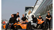 KTM X-Bow GT4 and Reiter Engineering Team with Catherine Felser