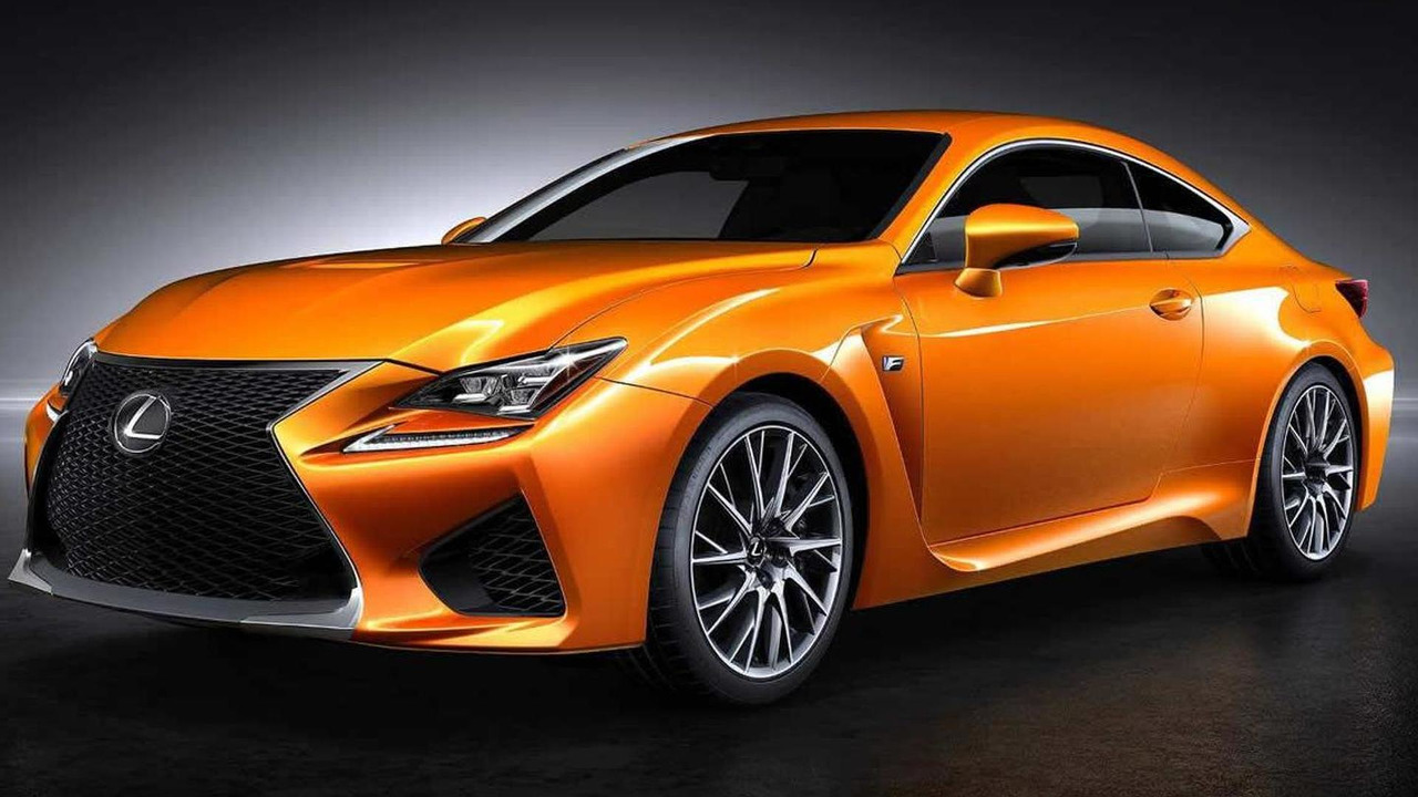 Lexus RC F with orange paint