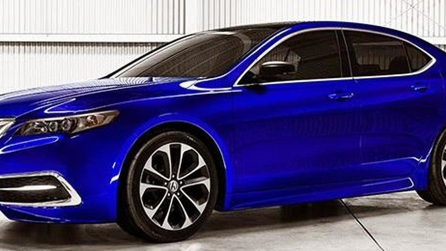 2015 Acura TLX prototype rendered as a production model