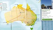 The Route Map of Volkswagen's Rural Roadshow, Starting on September 4, 2007