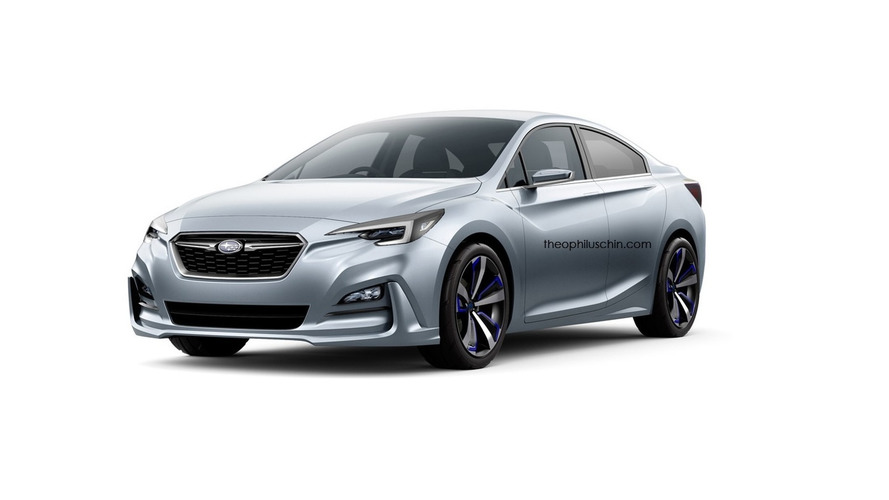 Subaru Impreza Sedan Concept rendered ahead of official reveal