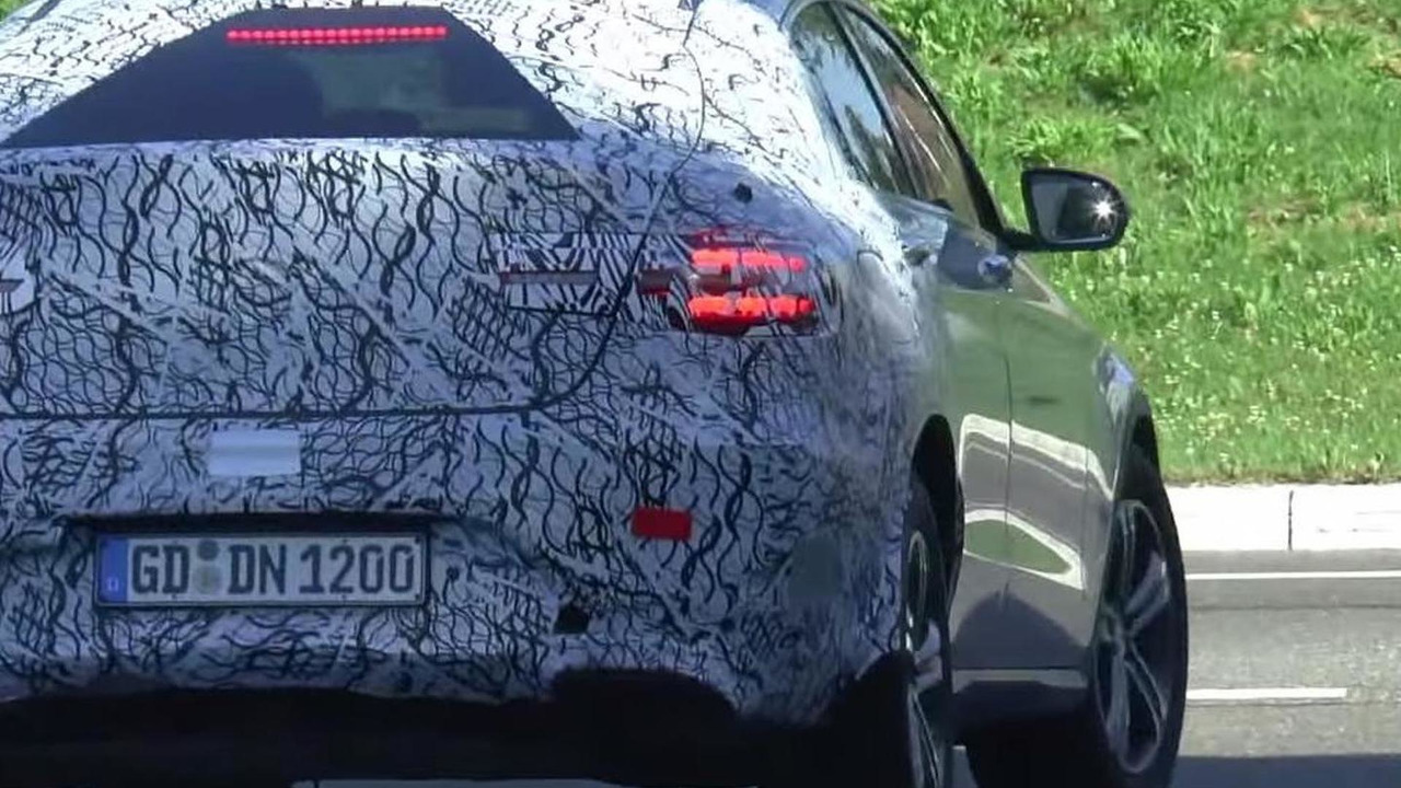 Mercedes-Benz GLC Coupe screenshot from spy video