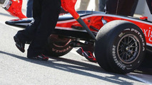 Timo Glock (GER), Virgin Racing, missing his front wing, Jerez, Spain, 11.02.2010