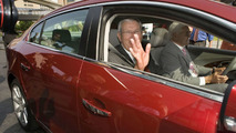 Edward Whitacre and Bob Lutz in 2010 Buick LaCrosse