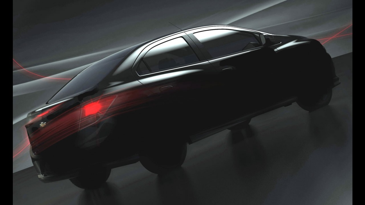 Novo Prisma: Chevrolet divulga primeiro teaser do modelo e fala em