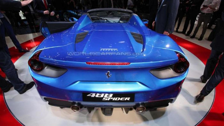 Ferrari 488 Spider flaunts its retractable hard top in Frankfurt