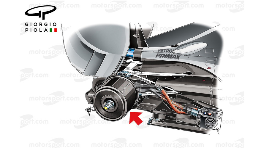 Mercedes brake heater, carbon casing
