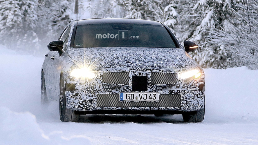 2018 Mercedes CLS stays under cover in new spy shots