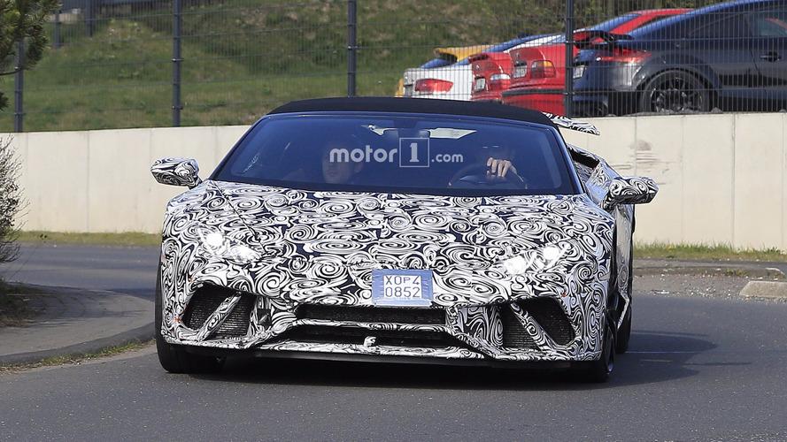 2018 Lamborghini Huracan Performante Spyder spy photos