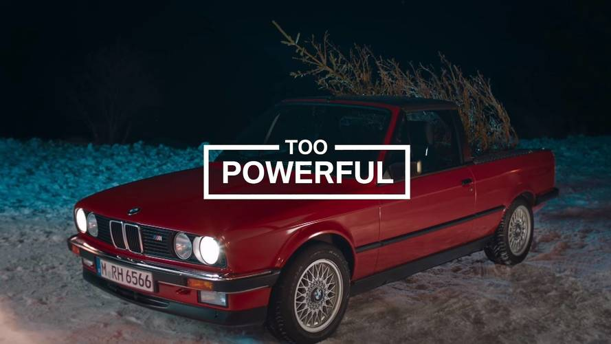 BMW M3 Pickup Truck Is A Christmas Tree Destroyer In Hilarious Ad