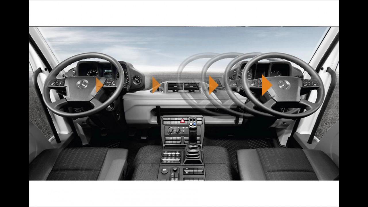 Mercedes Unimog Innenraum