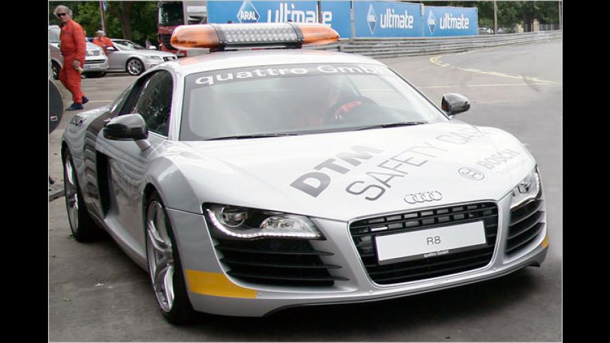 Besondere Aufgaben: Audi R8 Spezialfahrzeuge bei der DTM