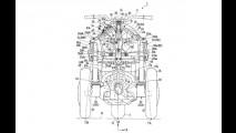 Honda registra patente de motocicleta com três rodas