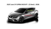 2017 SEAT Leon Cupra facelift images from infotainment screen