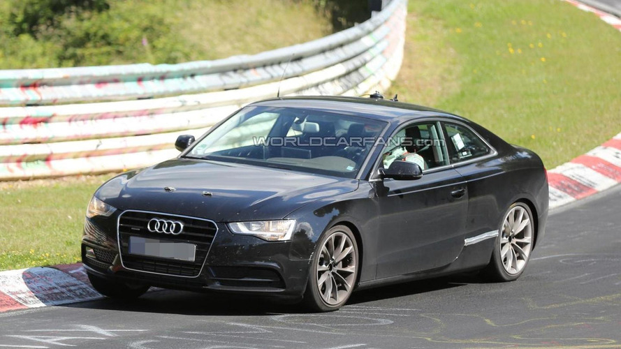 2016 Audi A5 chassis-mule spied for first time