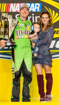 Race winner and 2015 NASCAR Sprint Cup series champion Kyle Busch
