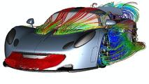 Hennessey Venom GT CFD (computational fluid dynamics) illustrations - 1073