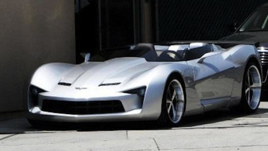 Spied: Corvette Stingray Concept goes topless for Tranformers 3