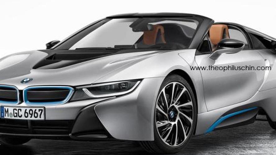 BMW i8 Spyder rendered