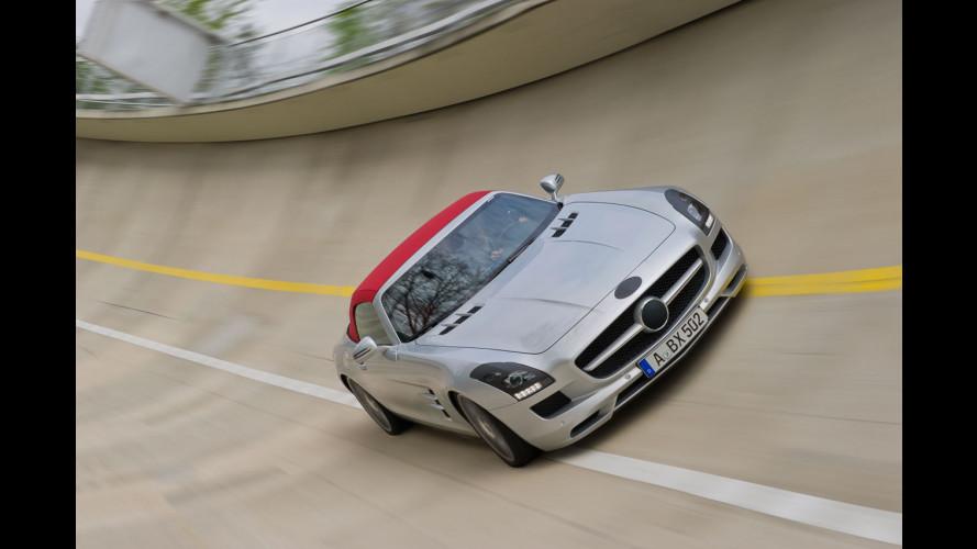 Mercedes SLS AMG Roadster: le prime foto