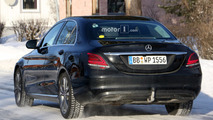 2018 Mercedes C-Class facelift spy photo