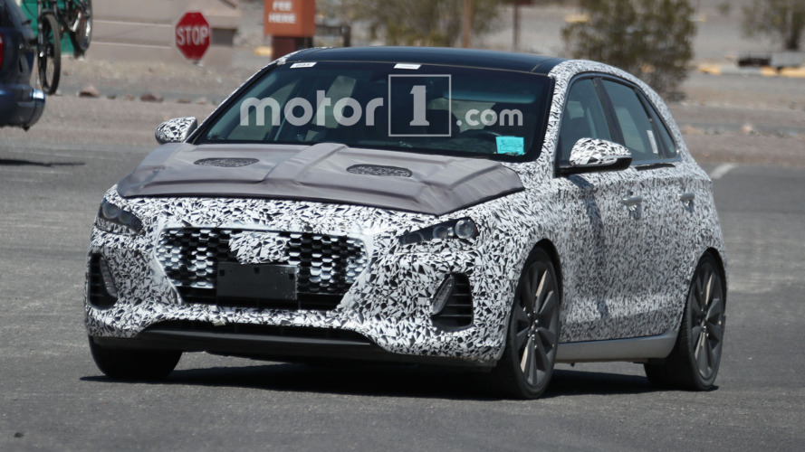 Hyundai i30 N spied testing in the desert