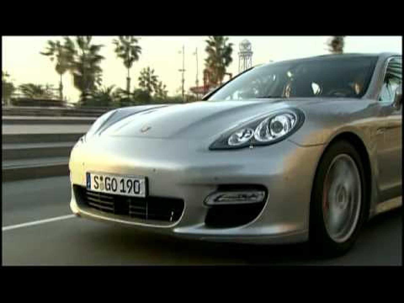 Porsche Panamera Turbo Driving Footage