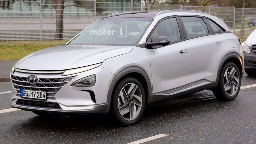 Fotos espía del próximo SUV de Hyundai con pila de hidrógeno