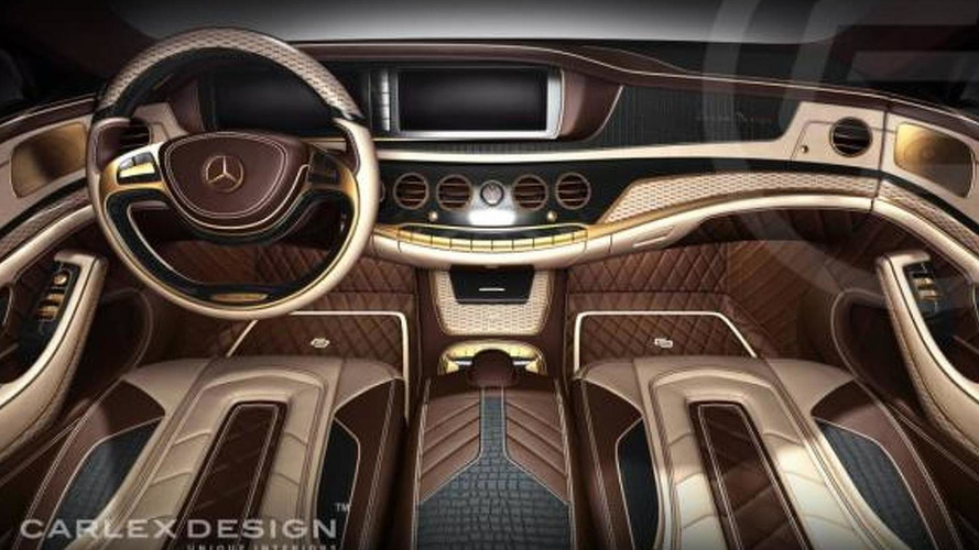 Carlex Design previews 2014 Mercedes-Benz S-Class with 24K gold coating and crocodile leather