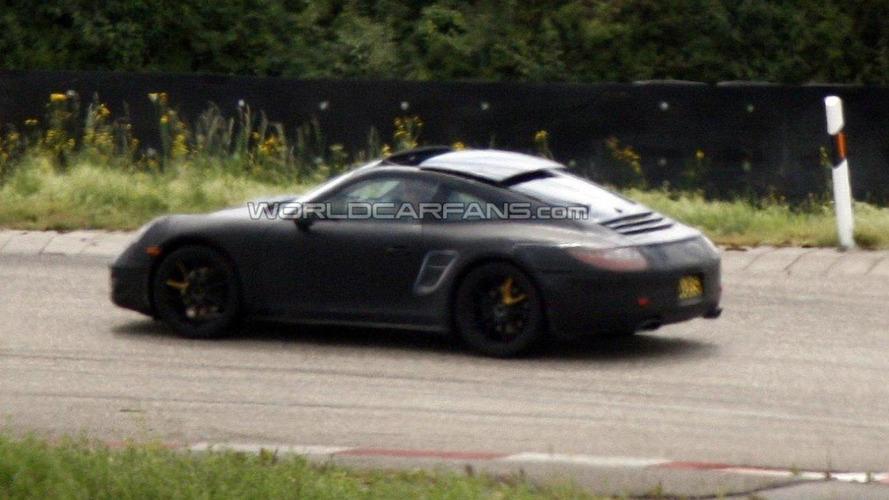 2012 Porsche 911 Targa caught with open top