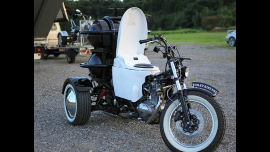 Que tal dirigir uma moto movida a... fezes humanas???