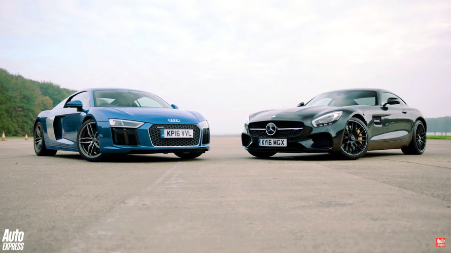 Mercedes-AMG GT S ve Audi R8 V10'un yarışı şaşırtıcı bir sona sahip
