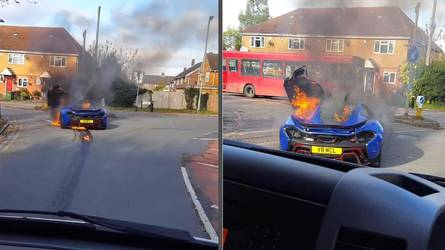 Micsoda látvány: kereszteződésben lángol a McLaren P1