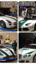 Mercedes-Benz SLS, Lamborghini Aventador, Aston Martin One-77, Bentley Continental Dubai Police Fleet 06.05.2013