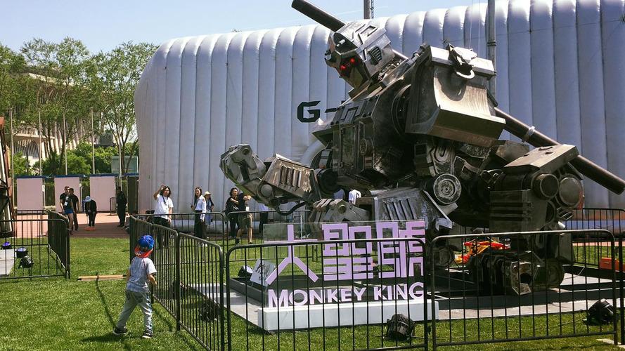 It's Alive! Giant Monkey King Robot Prepares For Battle