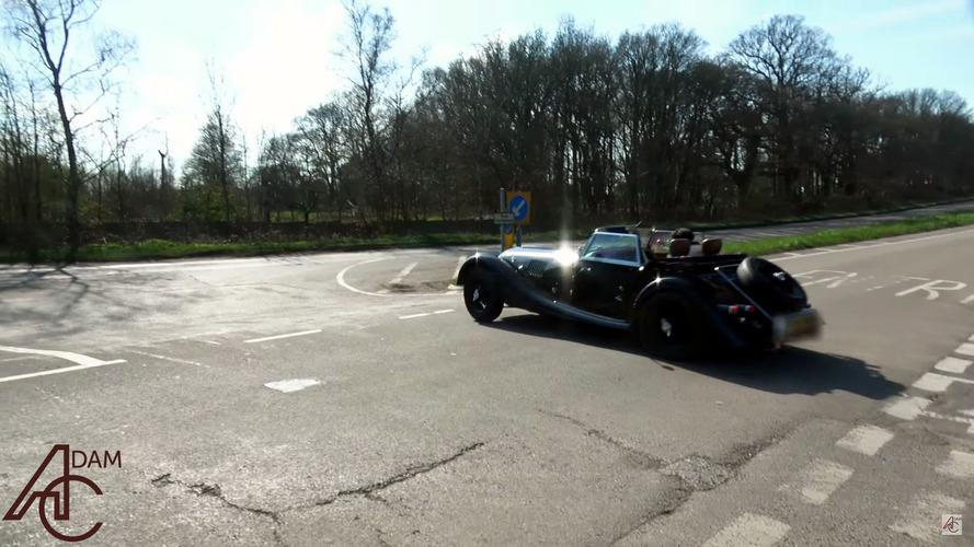 Morgan 4/4 Car Show Crash