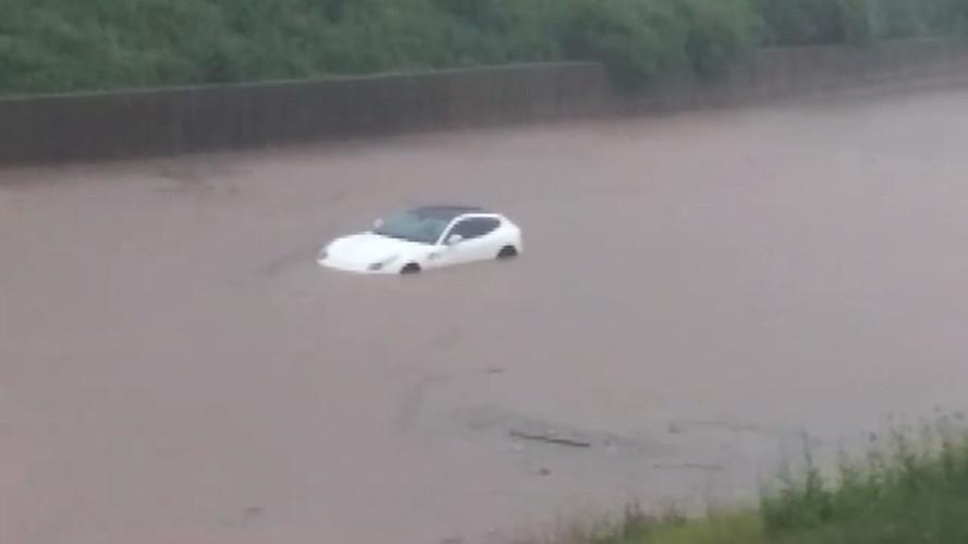 Ferrari FF Takes A Swim During Cleveland Flash Flood