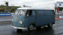 1953 VW Transporter at Santa Pod race track