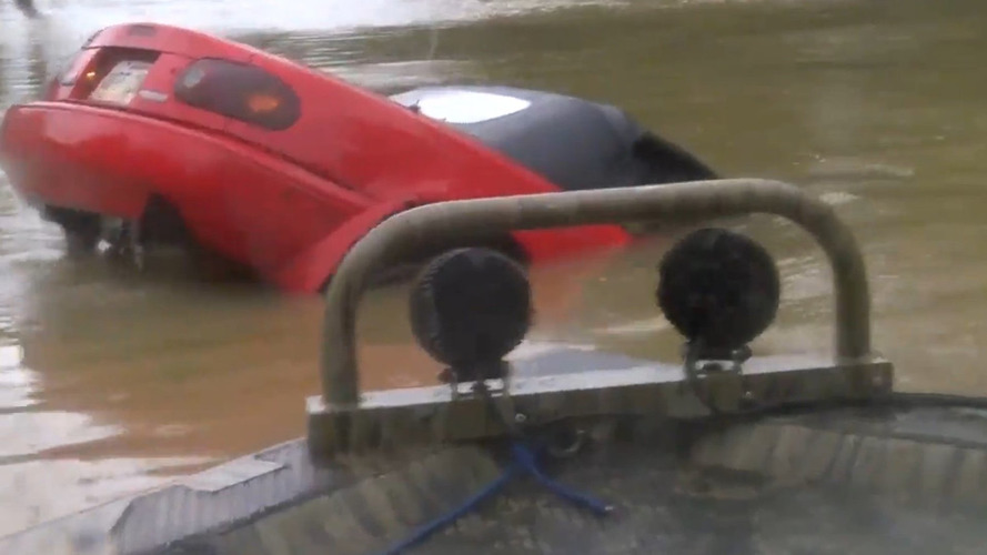 Mazda MX-5 driver in dramatic rescue from Louisiana floods