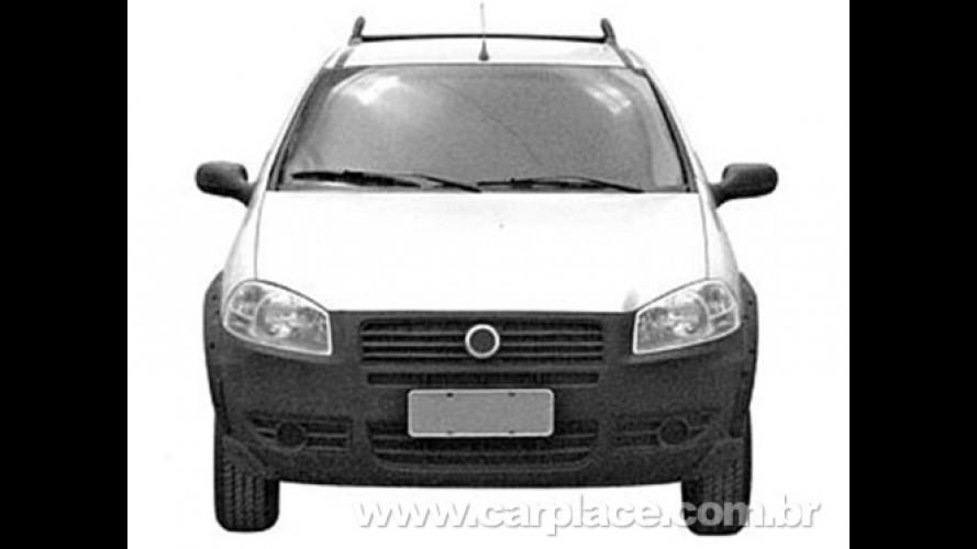 Nova Fiat Strada 2009 terá frente do Palio? Fotos revelam versão simples