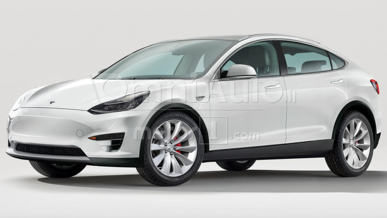 Tesla Model Y, il rendering