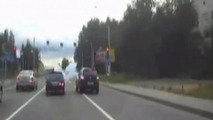 SUV passenger fires weapon