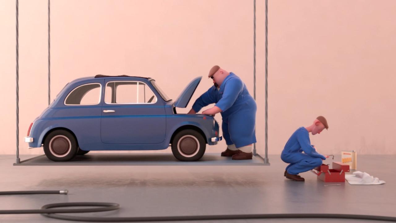 Fiat 500 in Voltige